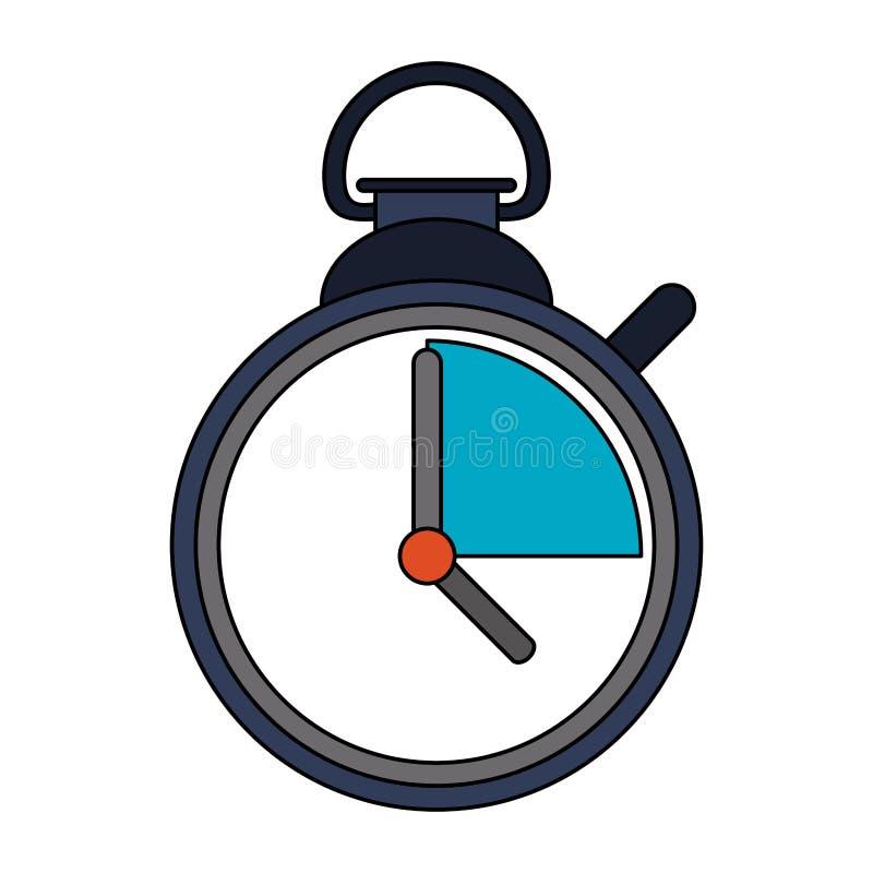 Lokalisierte Karikatur des Timer-Chronometers Symbol lizenzfreie abbildung