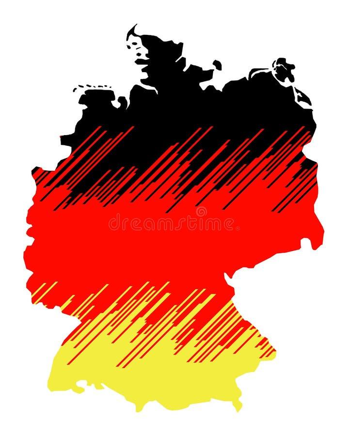 Lokalisierte Karte von Deutschland 03 lizenzfreies stockbild