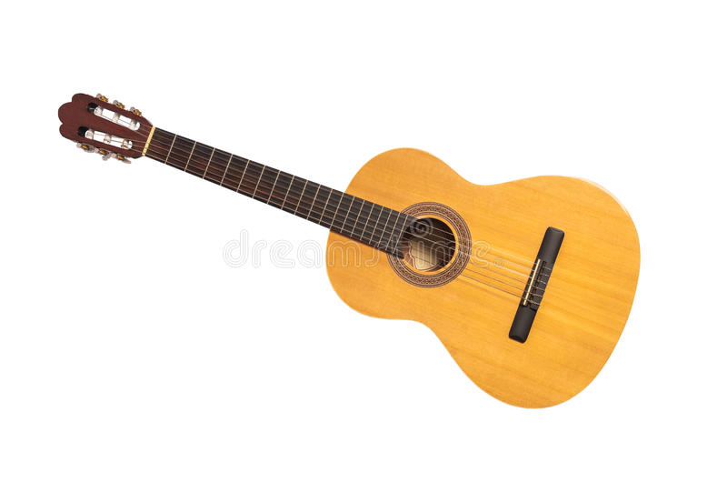 Lokalisierte klassische Gitarre stockfoto