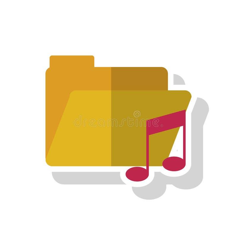 Lokalisierte Musikanmerkung und Dateidesign vektor abbildung