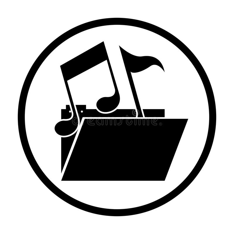 Lokalisierte Musikanmerkung und Dateidesign stock abbildung