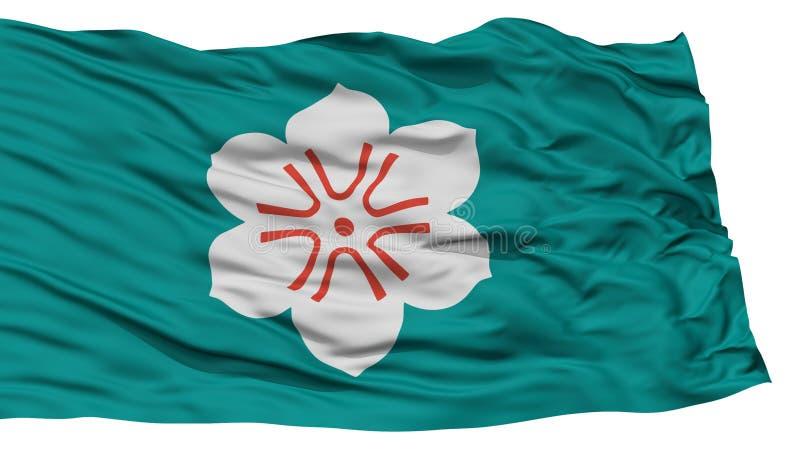 Lokalisierte Saga-Japan-Präfektur-Flagge stock abbildung