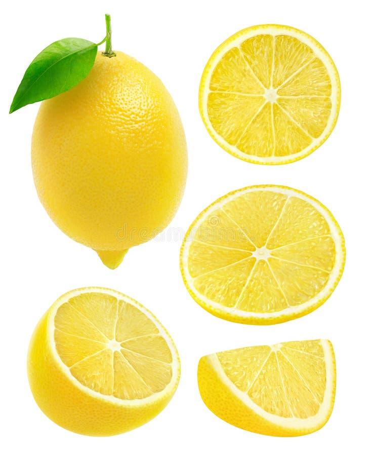 Lokalisierte Sammlung Zitronen lizenzfreie stockbilder