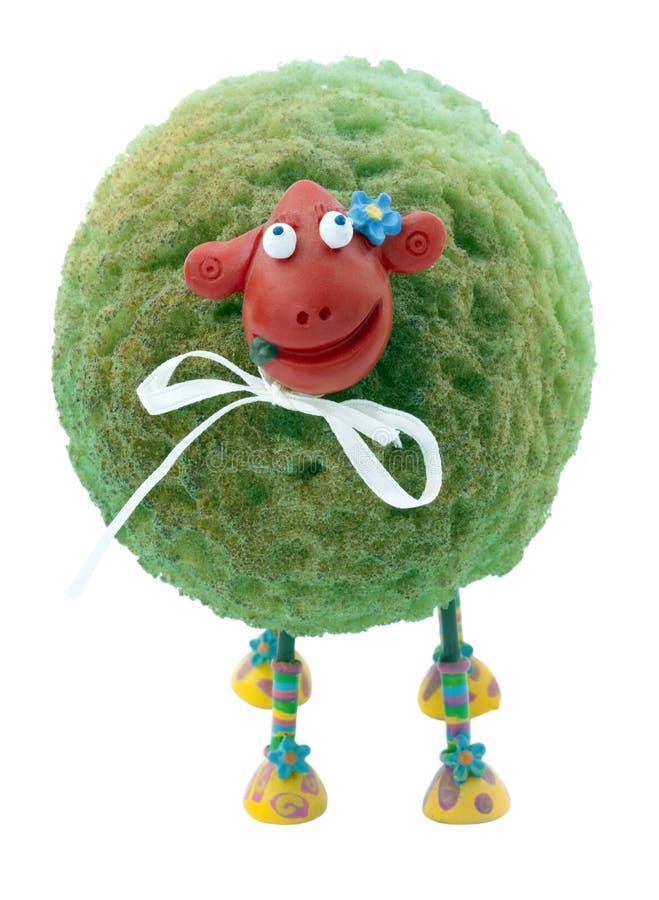 Lokalisierte Schaf-Puppe lizenzfreies stockbild