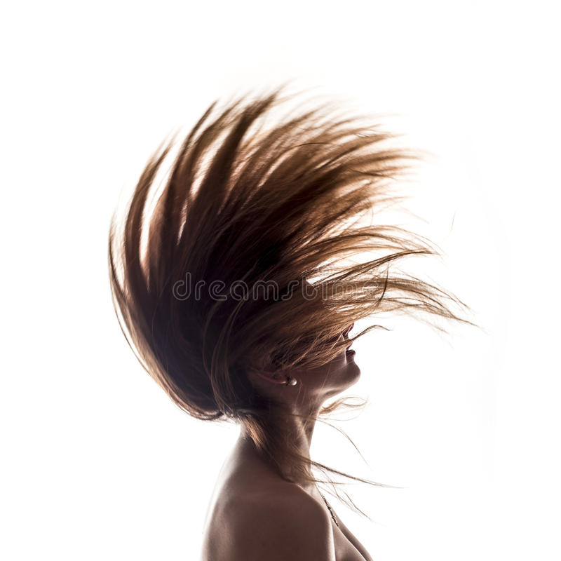 Lokalisierte Seitenansicht des Frauenporträts stockfotografie