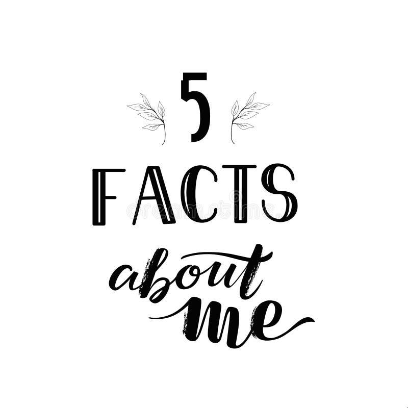 Lokalisierte Social Media-Geschichten-Schablone, die Tatsachen SMM 5 über mich beschriftet stockbild