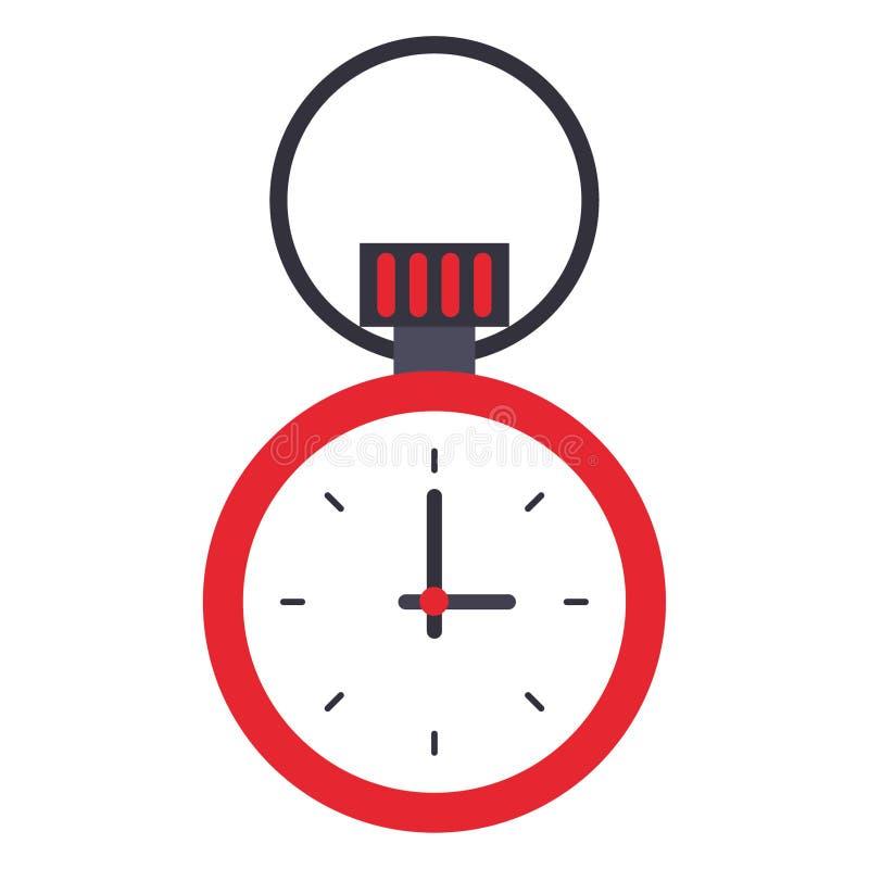 Lokalisierte Symbolkarikatur des Chronometers Zeit vektor abbildung
