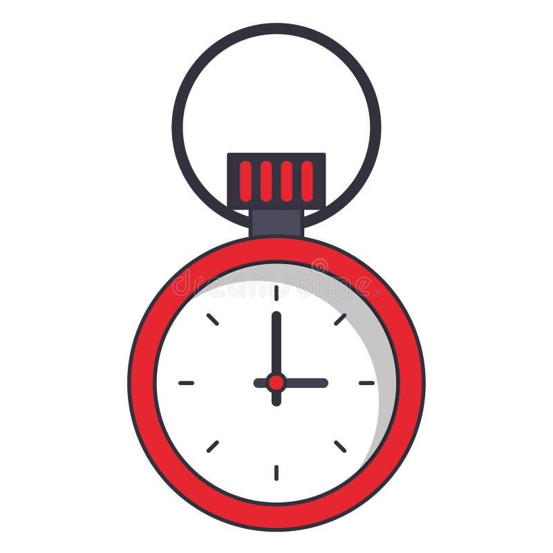 Lokalisierte Symbolkarikatur des Chronometers Zeit lizenzfreie abbildung