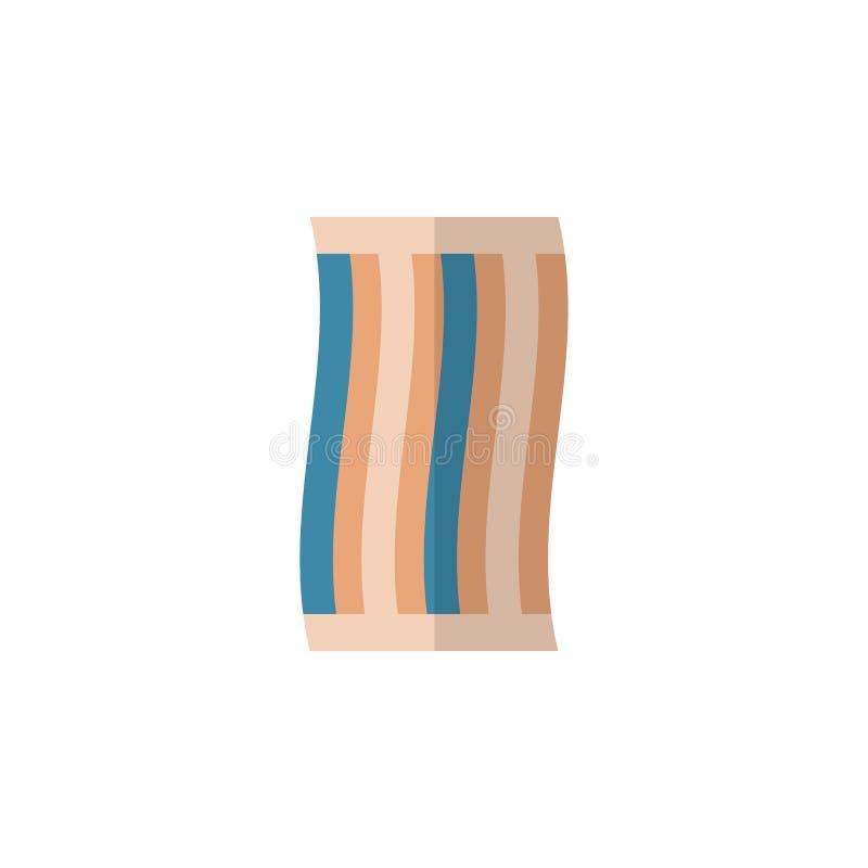 Lokalisierte Tuch-flache Ikone Wischer-Vektor-Element kann für Wischer, Tuch, Stoff-Konzept des Entwurfes benutzt werden lizenzfreie abbildung