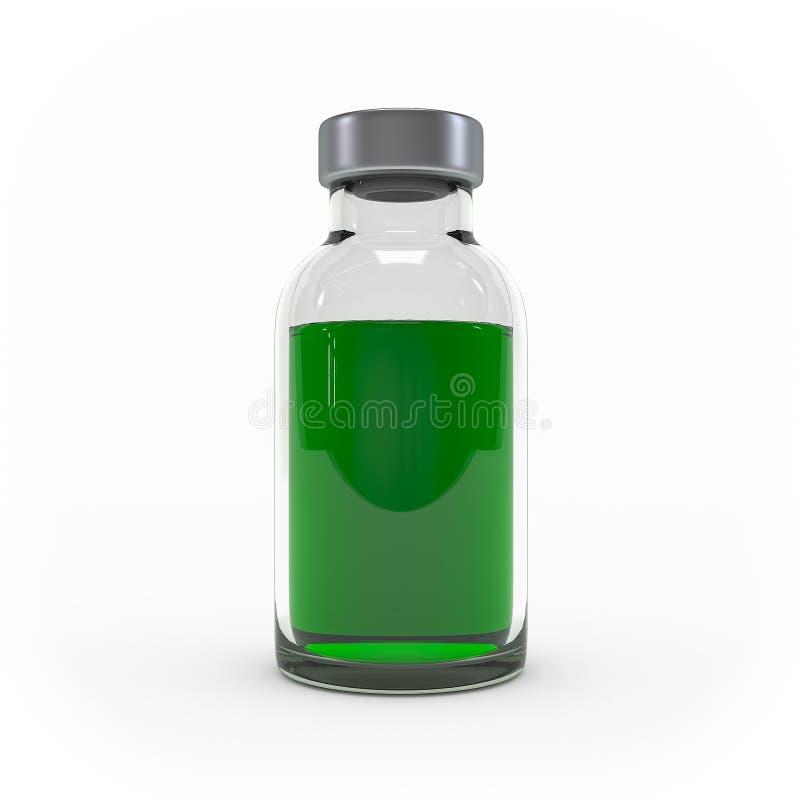 Lokalisierte Wiedergabe 3d der Medizineinspritzung Flasche lizenzfreie abbildung