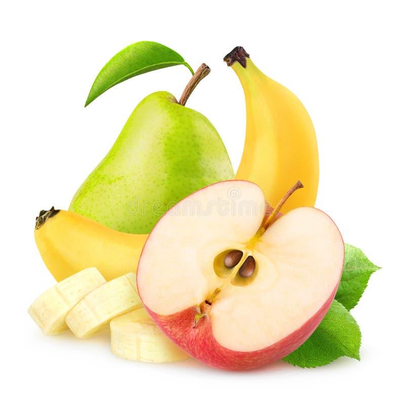 lokalisierter apfel banane und birne stockbild  bild von