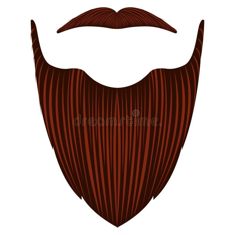 Lokalisierter ausführlicher Bart stock abbildung