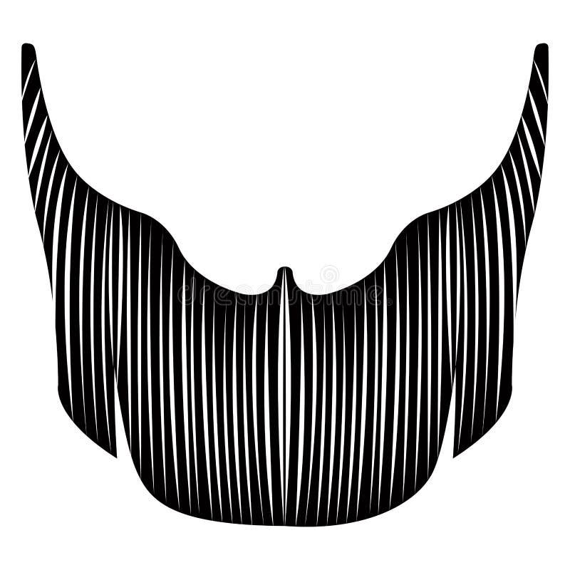 Lokalisierter ausführlicher Bart vektor abbildung