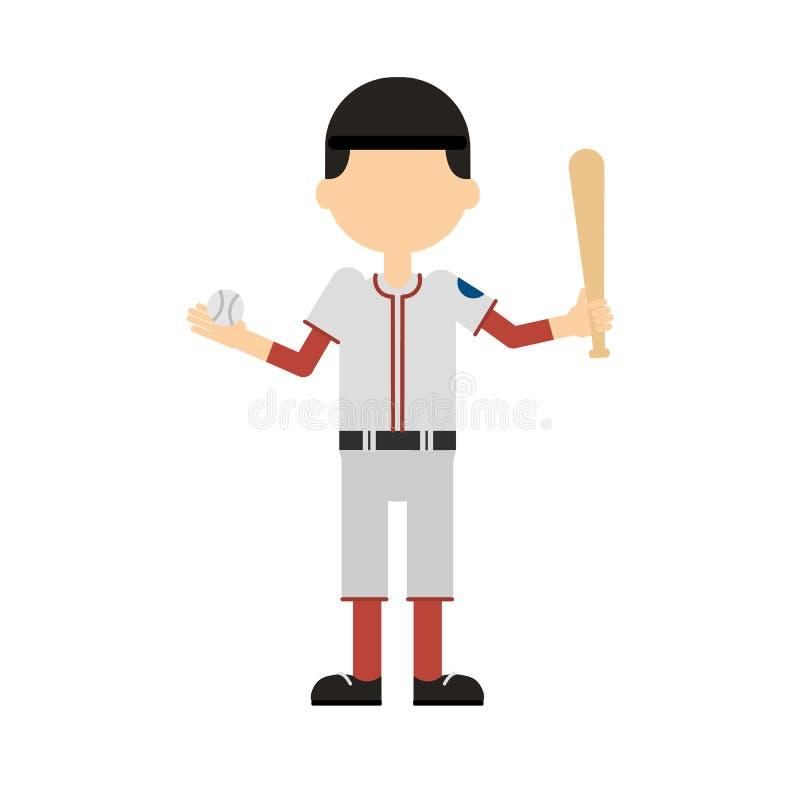 Lokalisierter Baseball-Spieler lizenzfreie abbildung