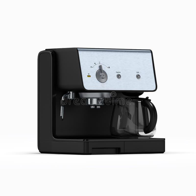 Lokalisierter coffe Hersteller auf einem wei?en Hintergrund Abbildung 3D vektor abbildung