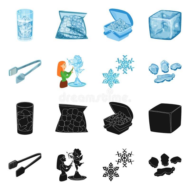 Lokalisierter Gegenstand der Beschaffenheit und des gefrorenen Logos Sammlung der Beschaffenheit und der transparenten Vektorillu stock abbildung