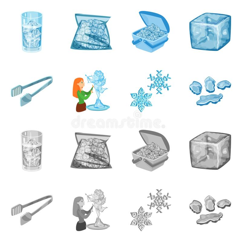 Lokalisierter Gegenstand der Beschaffenheit und des gefrorenen Logos Stellen Sie von der Beschaffenheit und vom transparenten Akt stock abbildung