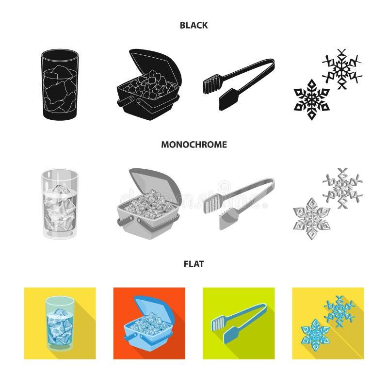 Lokalisierter Gegenstand der Beschaffenheit und des gefrorenen Symbols Sammlung der Beschaffenheit und des transparenten Aktiensy stock abbildung
