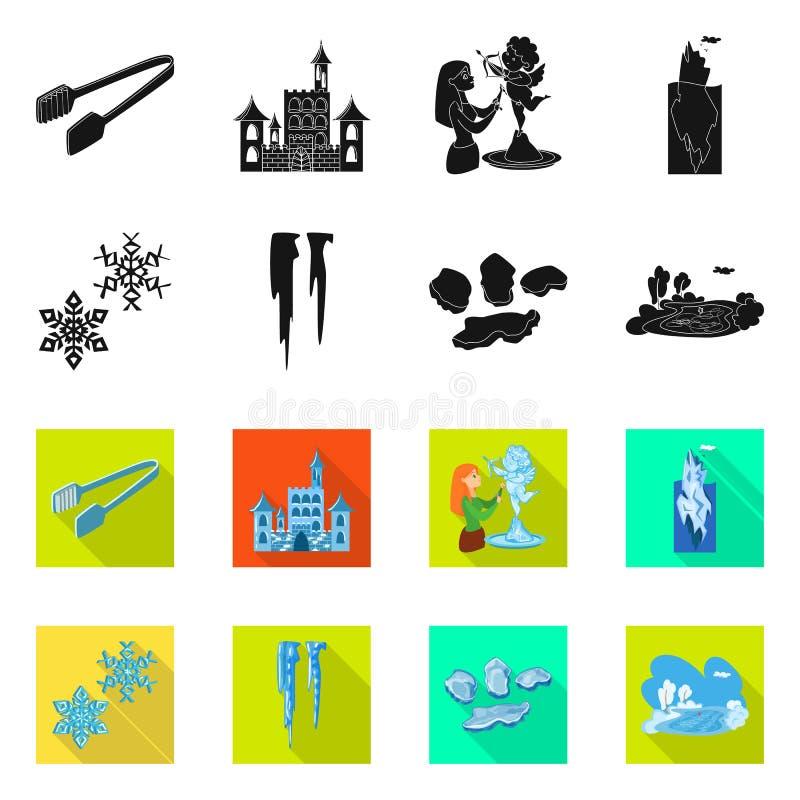Lokalisierter Gegenstand der Beschaffenheit und des gefrorenen Symbols Sammlung der Beschaffenheit und des transparenten Aktiensy lizenzfreie abbildung