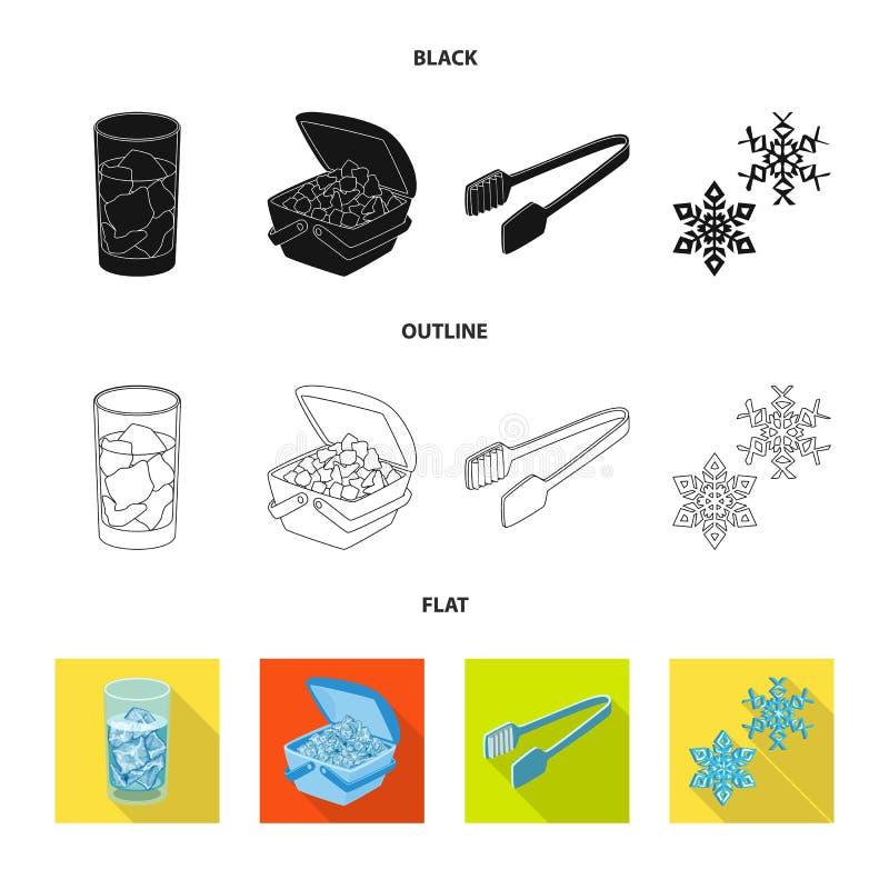 Lokalisierter Gegenstand der Beschaffenheit und der gefrorenen Ikone Sammlung der Beschaffenheit und der transparenten Vektorikon stock abbildung