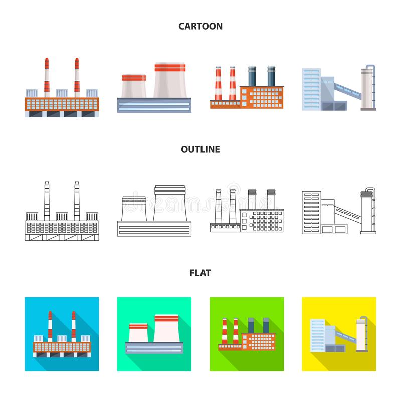 Lokalisierter Gegenstand der Produktions- und Strukturikone Sammlung der Produktions- und Technologievektorikone f?r Vorrat vektor abbildung