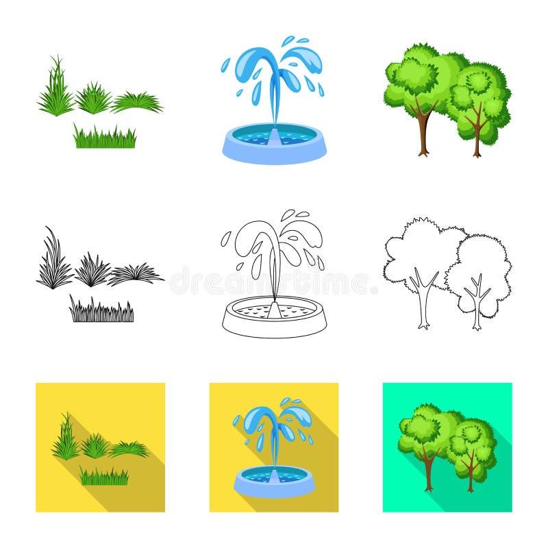 Lokalisierter Gegenstand der st?dtischer und Stra?enikone Stellen Sie von der st?dtischer und Vektorillustration des Entspannung  stock abbildung