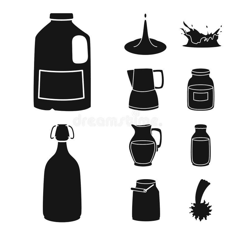 Lokalisierter Gegenstand des Bestandteiles und der organischen Ikone Stellen Sie von der Bestandteil- und Molkereivektorikone für stock abbildung