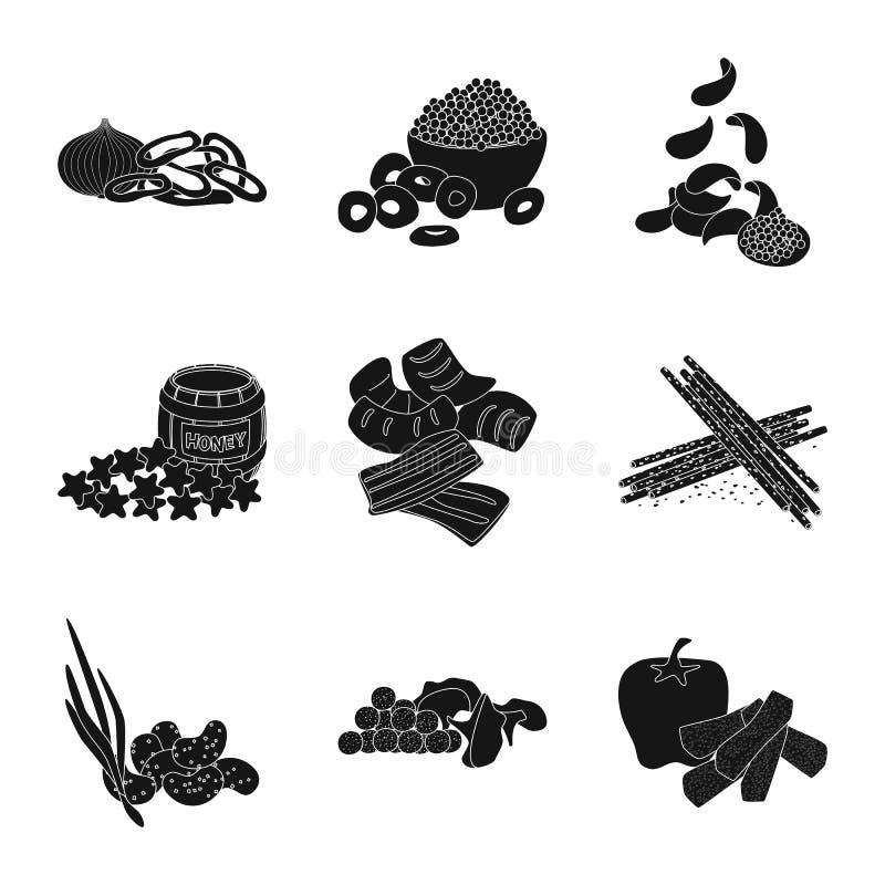 Lokalisierter Gegenstand des Bestandteiles und des organischen Symbols Sammlung der Bestandteil- und Produktvorratvektorillustrat stock abbildung
