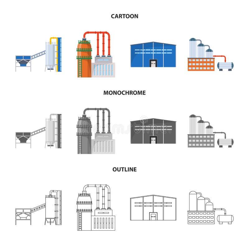 Lokalisierter Gegenstand des Produktions- und Strukturzeichens Stellen Sie von der Produktion und vom Technologieaktiesymbol f?r  lizenzfreie abbildung