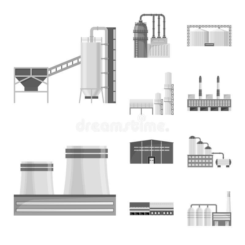 Lokalisierter Gegenstand des Produktions- und Strukturzeichens Stellen Sie von der Produktions- und Technologievektorikone f?r Vo lizenzfreie abbildung
