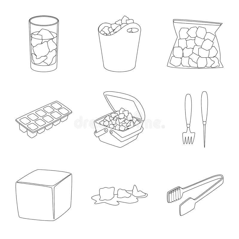 Lokalisierter Gegenstand des sauberen und nass Logos Stellen Sie von der sauberer und Vektorillustration der Reinheit auf Lager e lizenzfreie abbildung