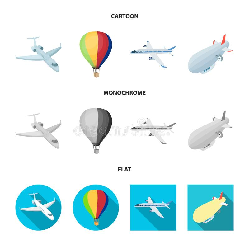 Lokalisierter Gegenstand des Transport- und Gegenstandlogos Stellen Sie vom Transport und von gleitener Vektorillustration auf La lizenzfreie abbildung