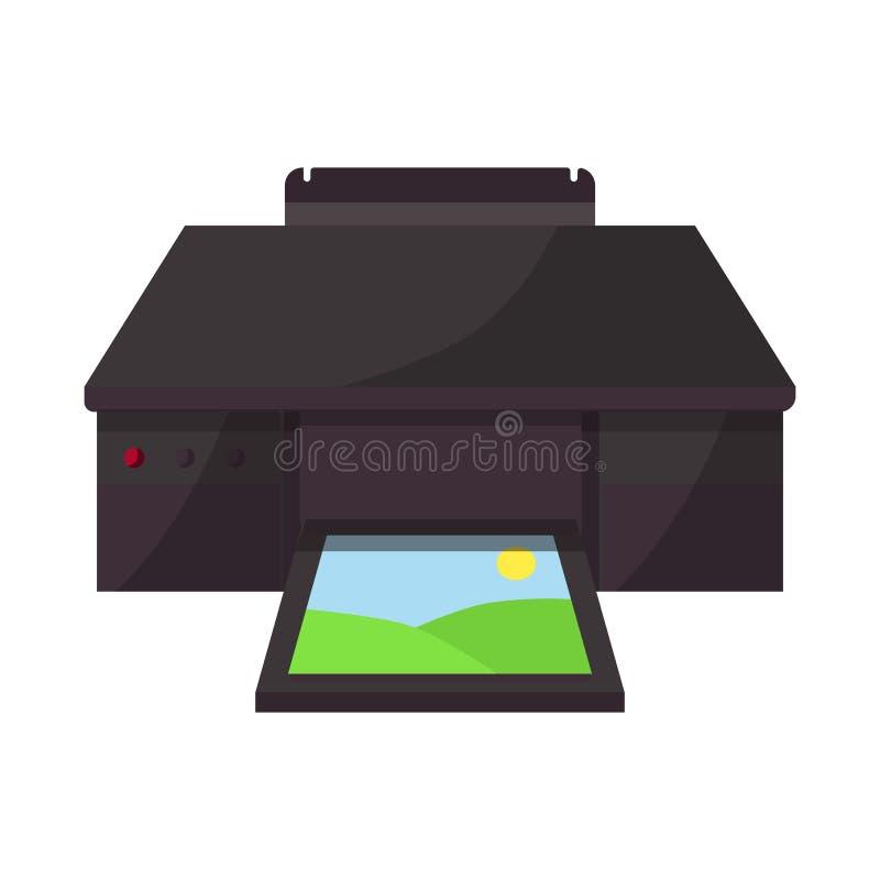 Lokalisierter Gegenstand von fotokopieren und bearbeiten Zeichen maschinell Stellen Sie von fotokopieren und anzeigen Aktiensymbo lizenzfreie abbildung