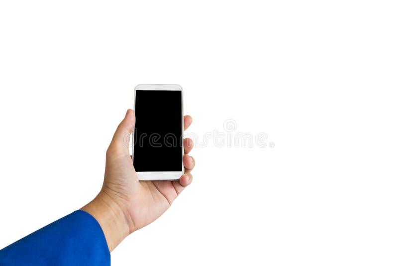 Lokalisierter Geschäftsfrauhandsmartphone oder -Handy lizenzfreies stockfoto