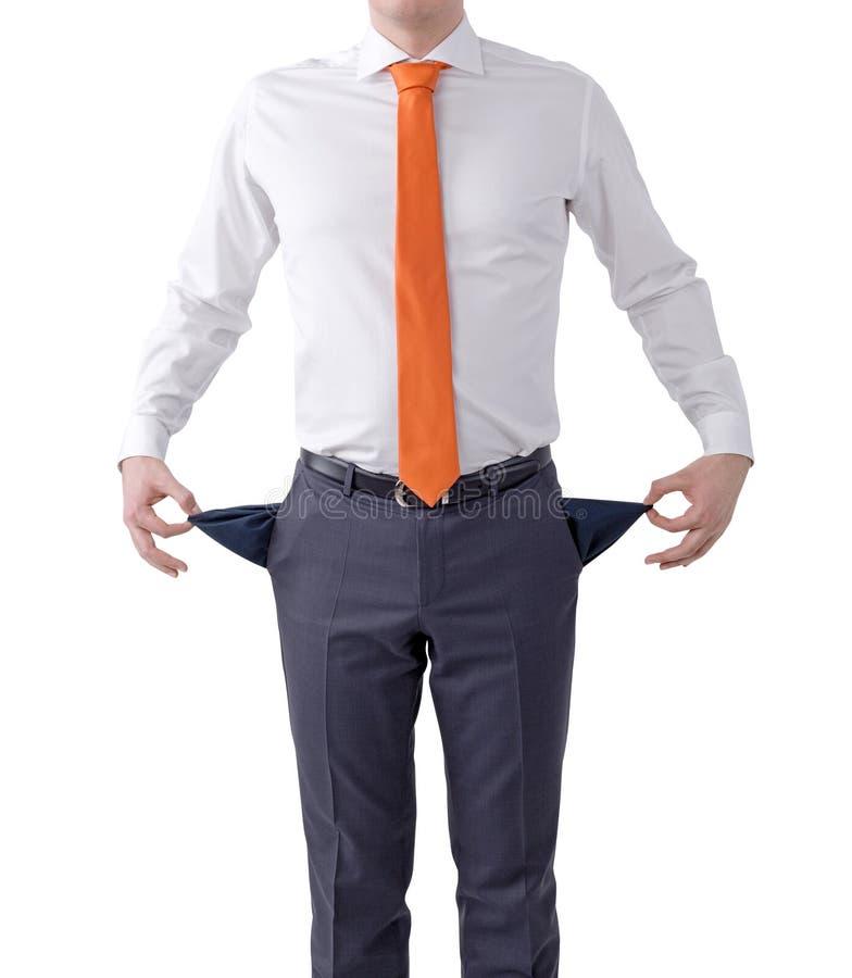Lokalisierter Geschäftsmann der Arbeitslosigkeit Konzept lizenzfreies stockbild