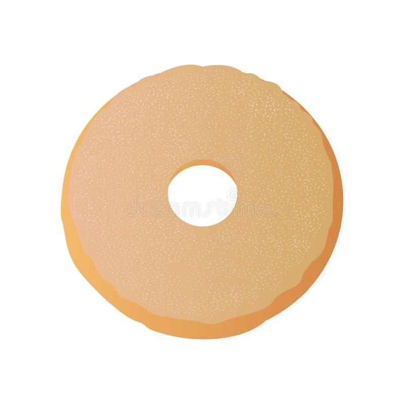 Lokalisierter glasig-gl?nzender Donut stock abbildung