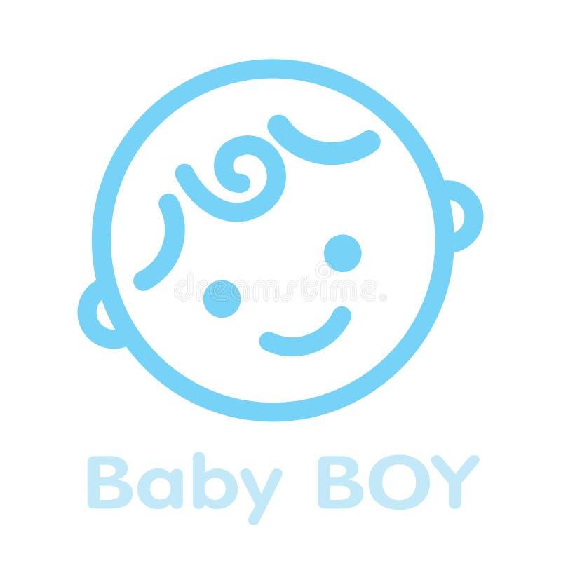 Lokalisierter Hintergrund der Babygesichts-Ikone Symbol vektor abbildung
