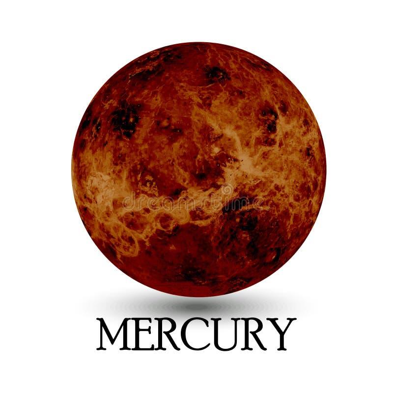 Lokalisierter Hintergrund des Planeten Mercury lizenzfreie abbildung