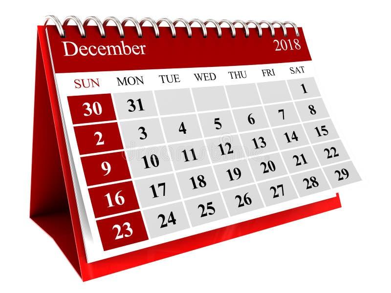 lokalisierter Kalender lizenzfreie abbildung