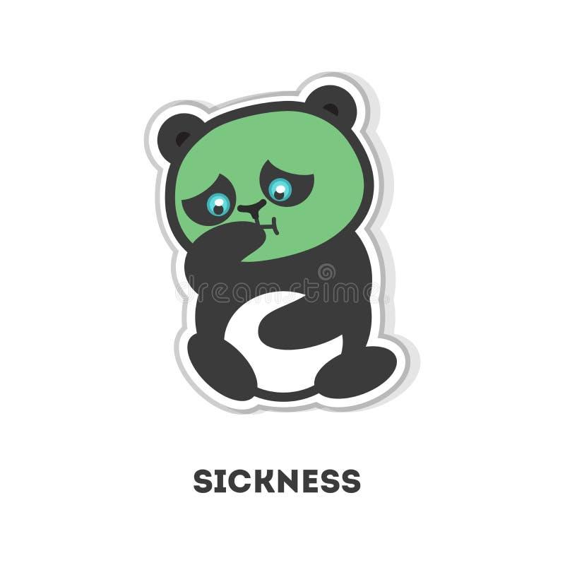 Download Lokalisierter Kranker Panda Vektor Abbildung - Illustration von kopf, ausdruck: 90226854