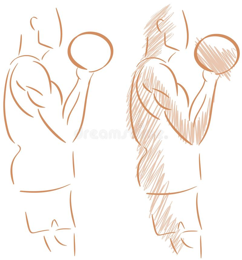 Lokalisierter Mann, der Gewichtheben tut stock abbildung