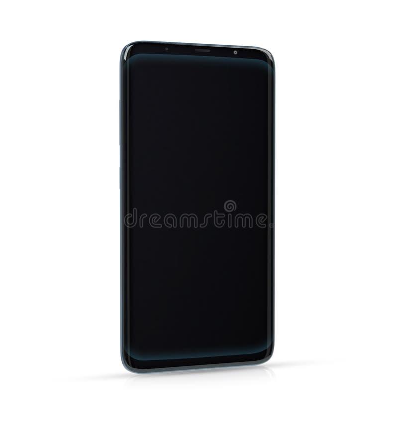 Lokalisierter moderner Smartphone mit Wiedergabe des Schattens 3d lizenzfreie abbildung
