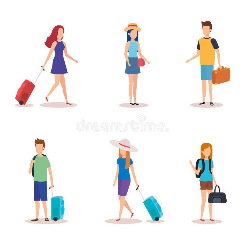 Lokalisierter Reiseleuteentwurf lizenzfreie abbildung