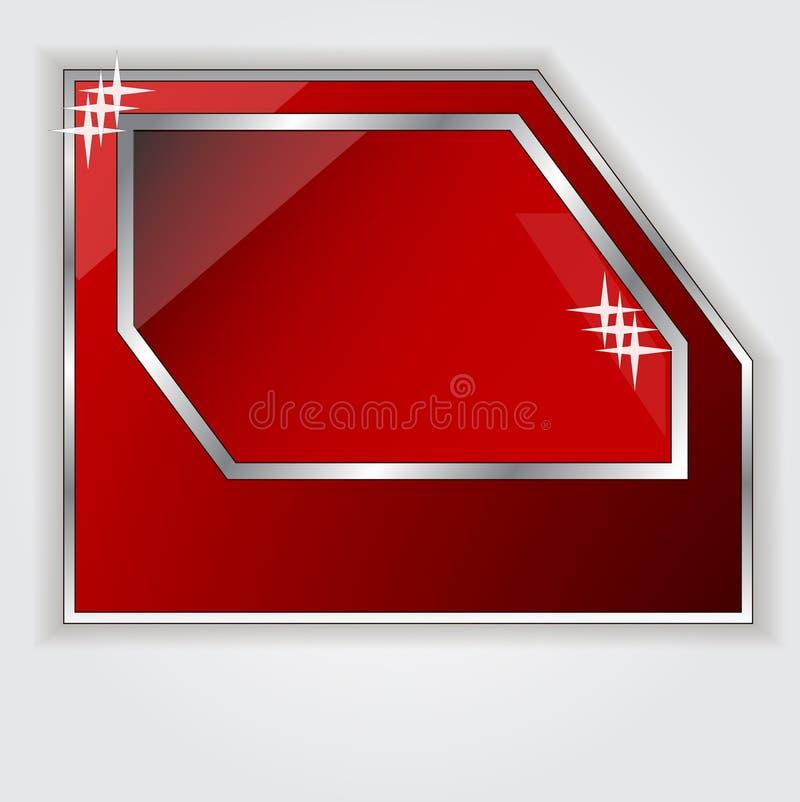 Lokalisierter roter Rahmen für Ihren Text vektor abbildung