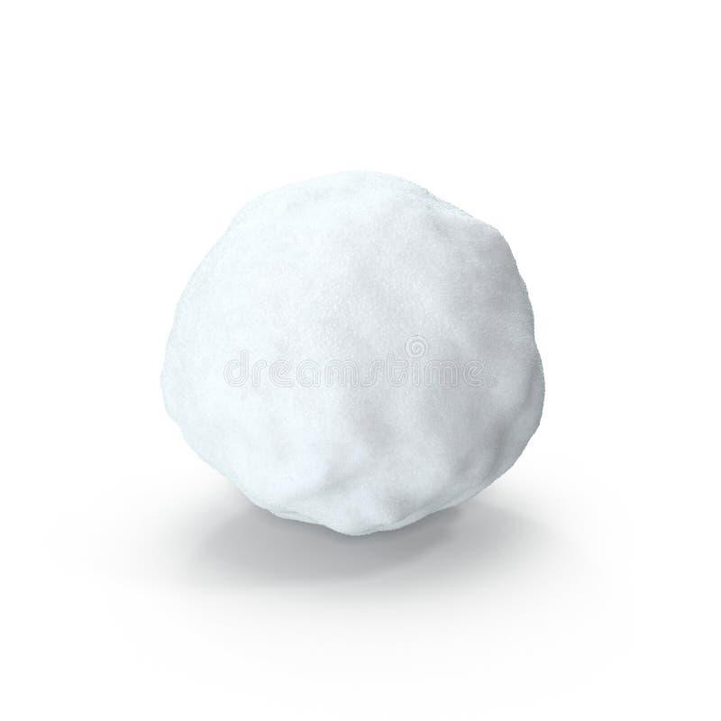 Lokalisierter Schneeball auf weißem Hintergrund Abbildung 3D vektor abbildung