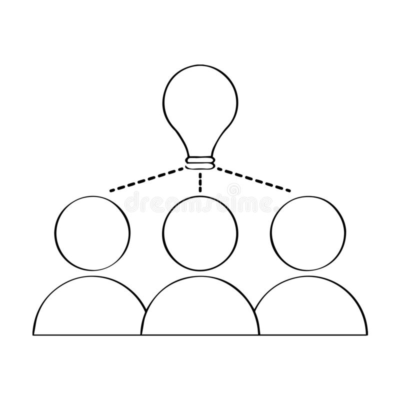 Lokalisierter Teamwork-Entwurf geistesstörung stock abbildung
