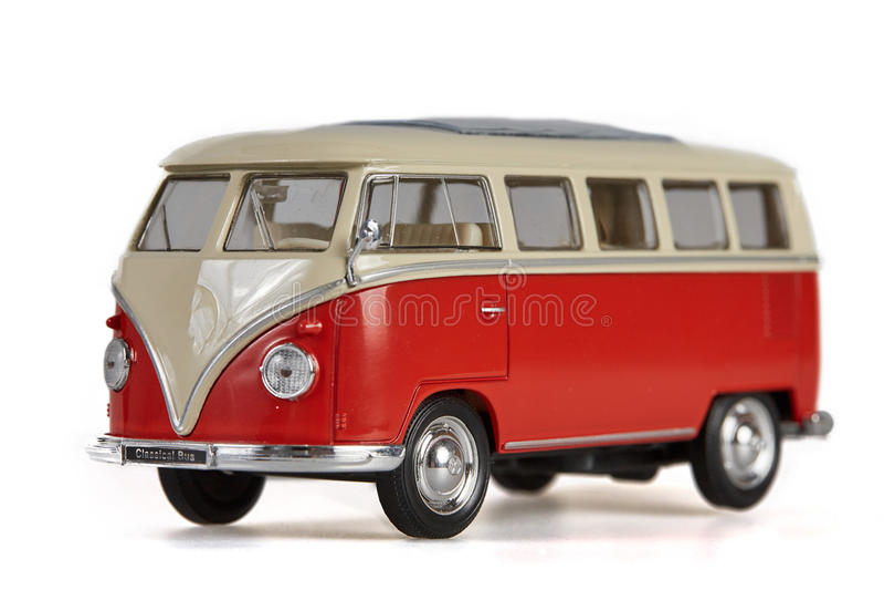 Lokalisierter VW-Buspackwagen auf weißem Hintergrund lizenzfreies stockbild