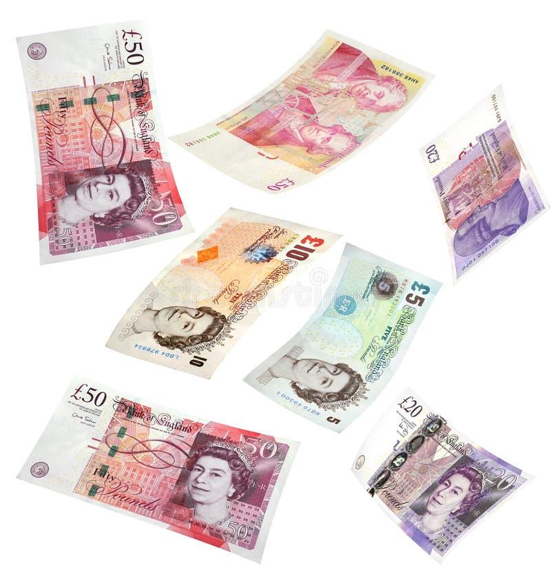 Lokalisiertes britisches Geld stockfotografie