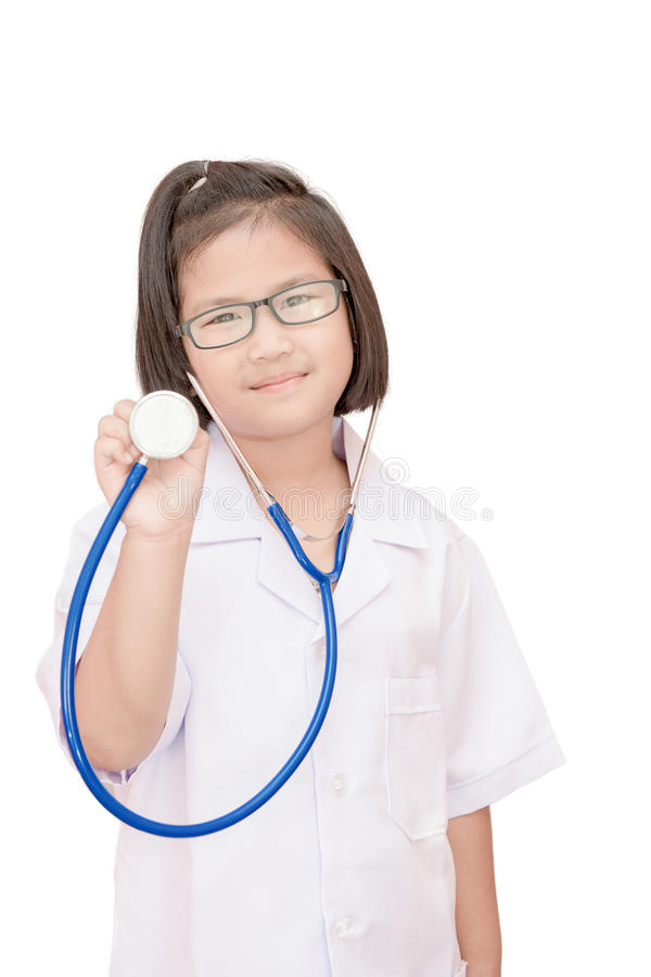 Lokalisiertes Doktorkind lizenzfreies stockfoto