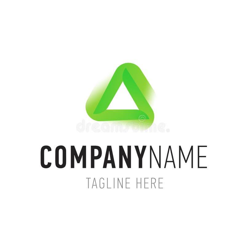 Lokalisiertes Element des Dreiecks grüne Zusammenfassung für Logodesign Unternehmensidentitä5ssymbole mit Firmennamen vektor abbildung